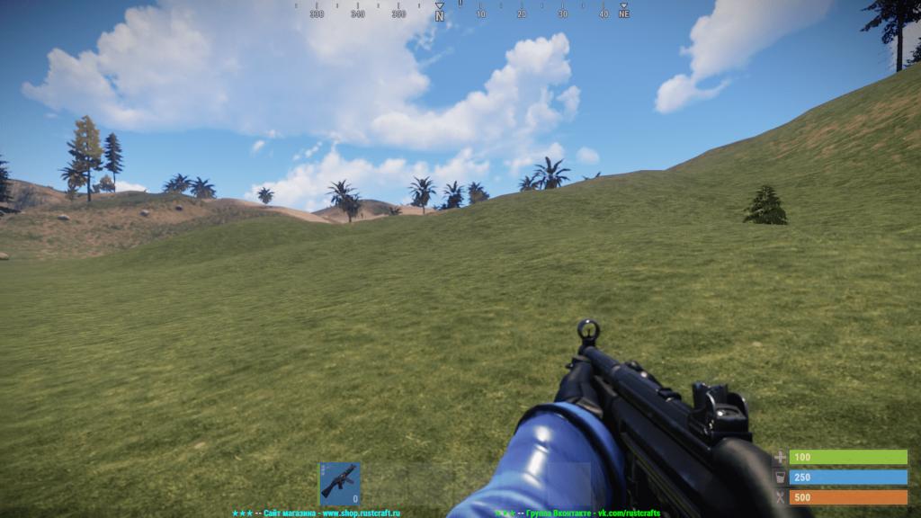 MP5A4 в руках в Rust