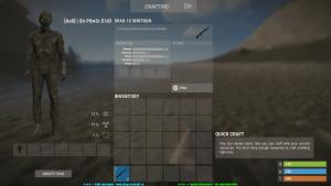 Spas-12 в инвентаре в Rust