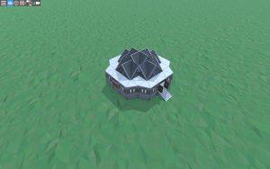 Дом для 1-2 игроков с укреплённой крышей