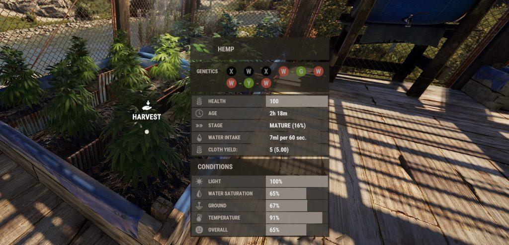 Информационная панель растений в Rust