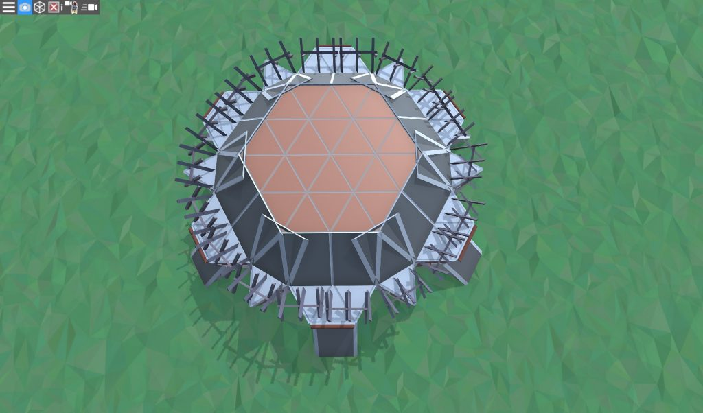 Крыша дома для 1-2 игроков
