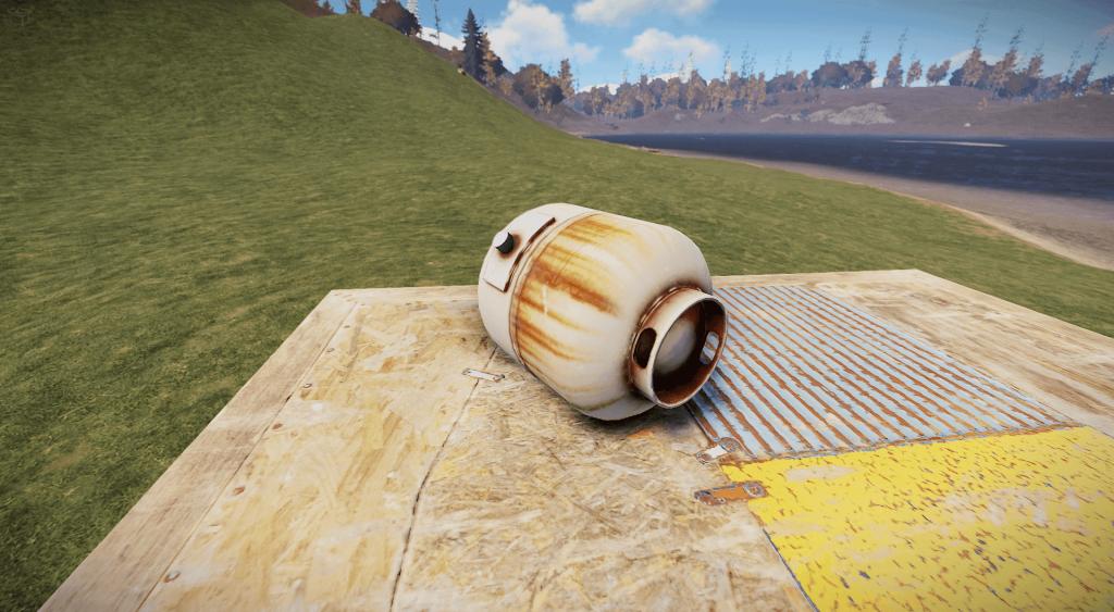 Пропановый баллон в Rust