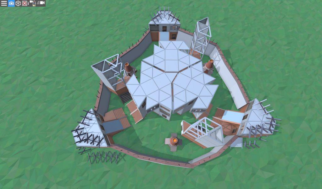 Крыша большого дома для средней группы игроков в RUST