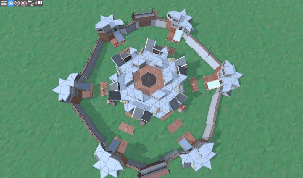 Крыша клановой базы в RUST