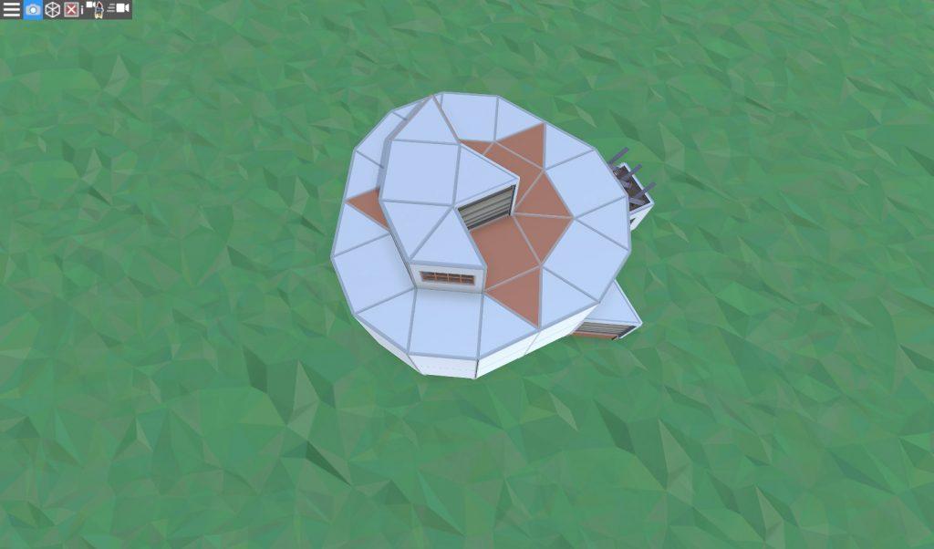Крыша продуманного соло дома в RUST