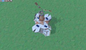 Крыша средннго дома с коптерами и турелями для 2-3 игроков в RUST
