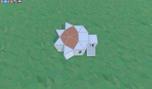 Крыша удобного соло дома для старта в RUST