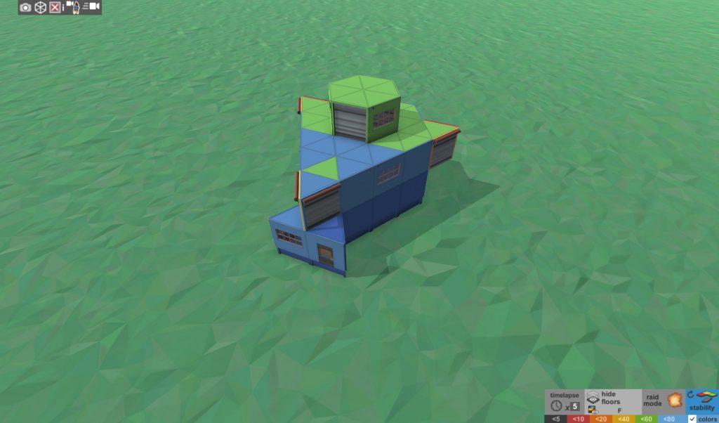 Стабильность дома соло игрока с коптерной площадкой в Rust