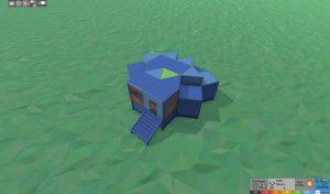 Стабильность крепкого дома с подвалом для 2 игроков в RUST