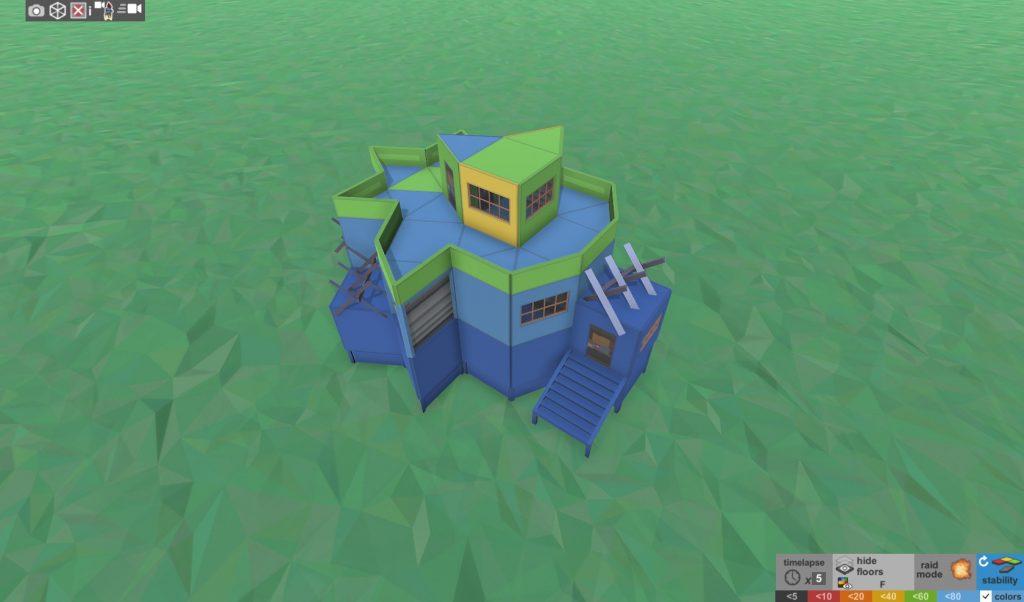 Стабильность продуманного дома для соло игрока в RUST