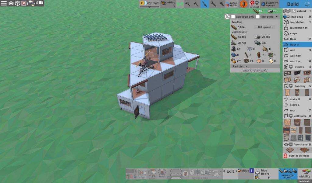 Стоимость улучшения дома соло игрока с коптерной площадкой в Rust