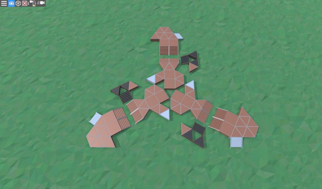 Фундамент большого дома для средней группы игроков в RUST