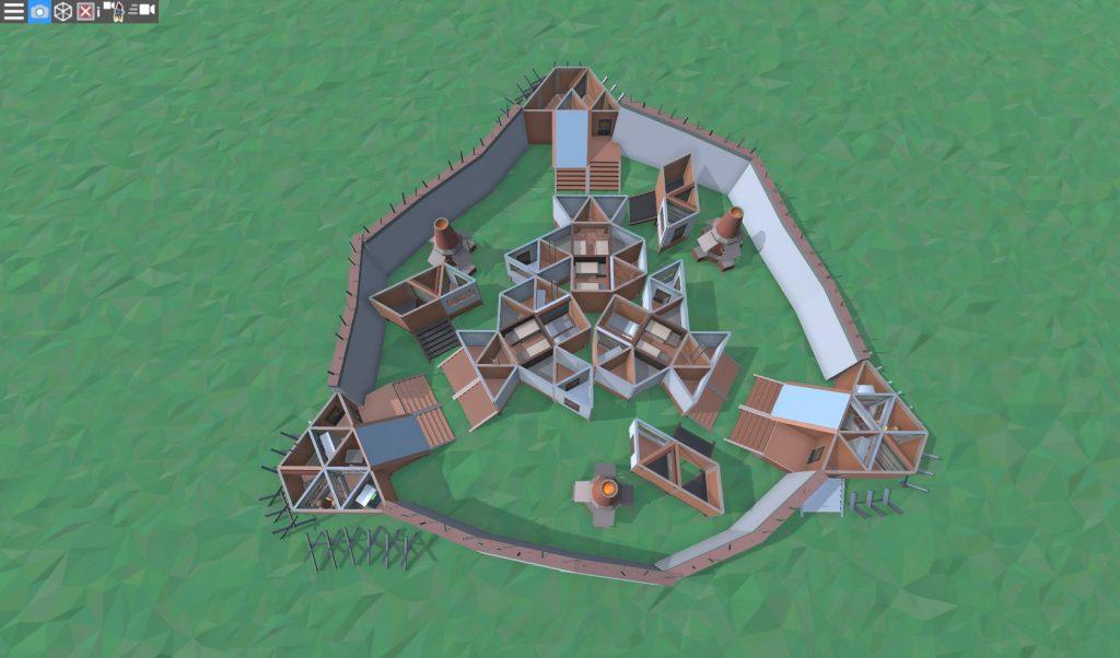 1 этаж большого дома для средней группы игроков в RUST