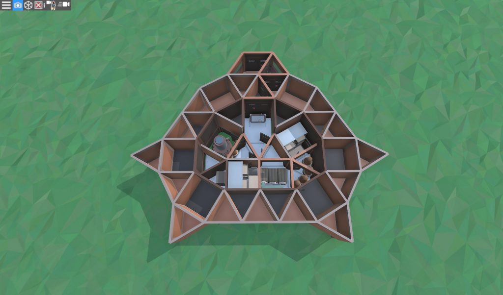 1 этаж дома для 1-2 игроков в RUST