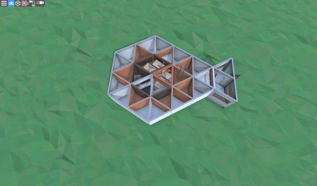 1 этаж дома соло игрока с коптерной площадкой в Rust