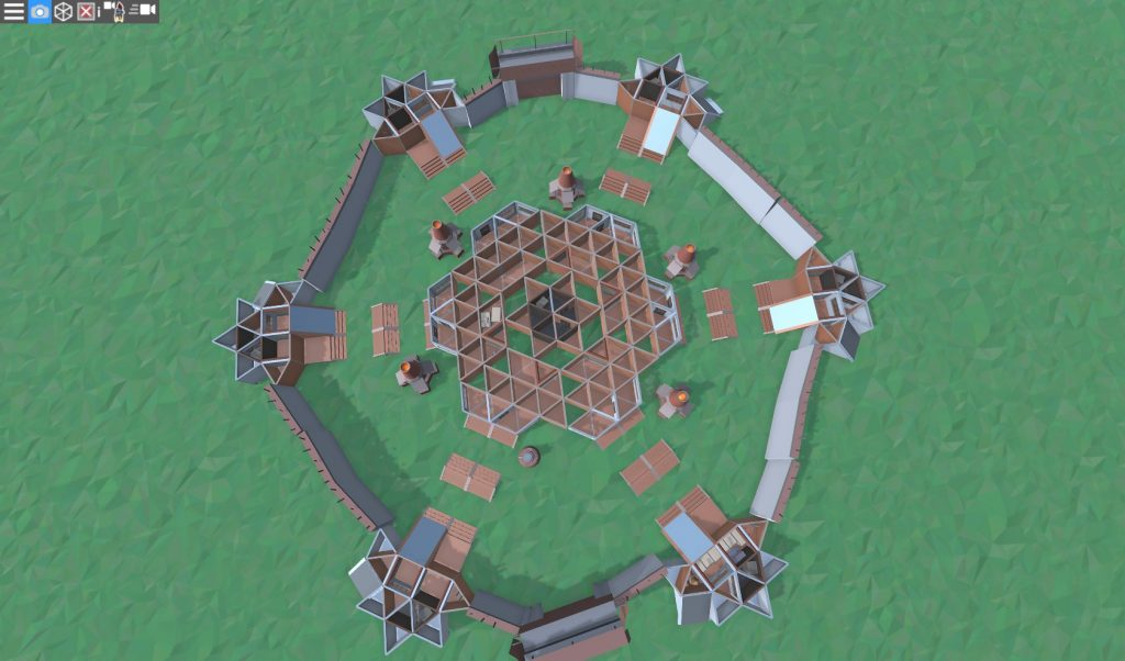 1 этаж клановой базы в RUST