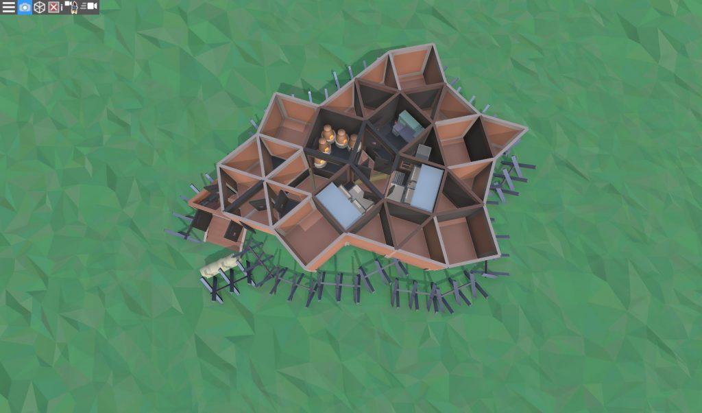 1 этаж колючего дома соло игрока в RUST