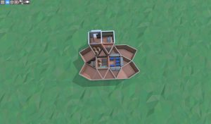 1 этаж крепкого дома с подвалом для 2 игроков в RUST