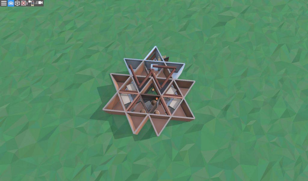 1 этаж продуманного дома для соло игрока в RUST