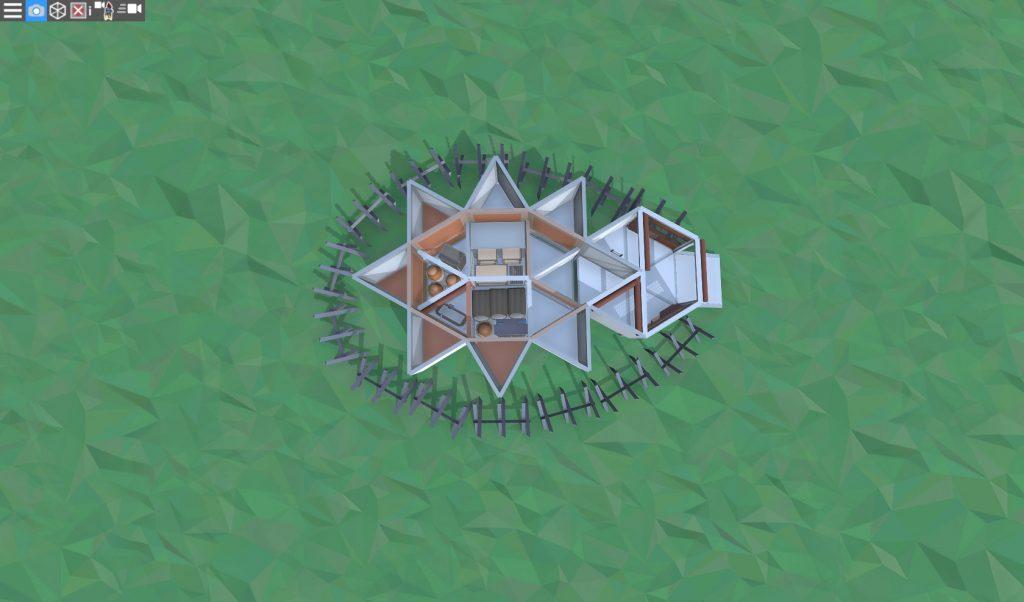 1 этаж прочной базы для соло игрока в RUST