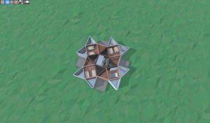 1 этаж среднего дома с коптерами и турелями для 2-3 игроков в RUST