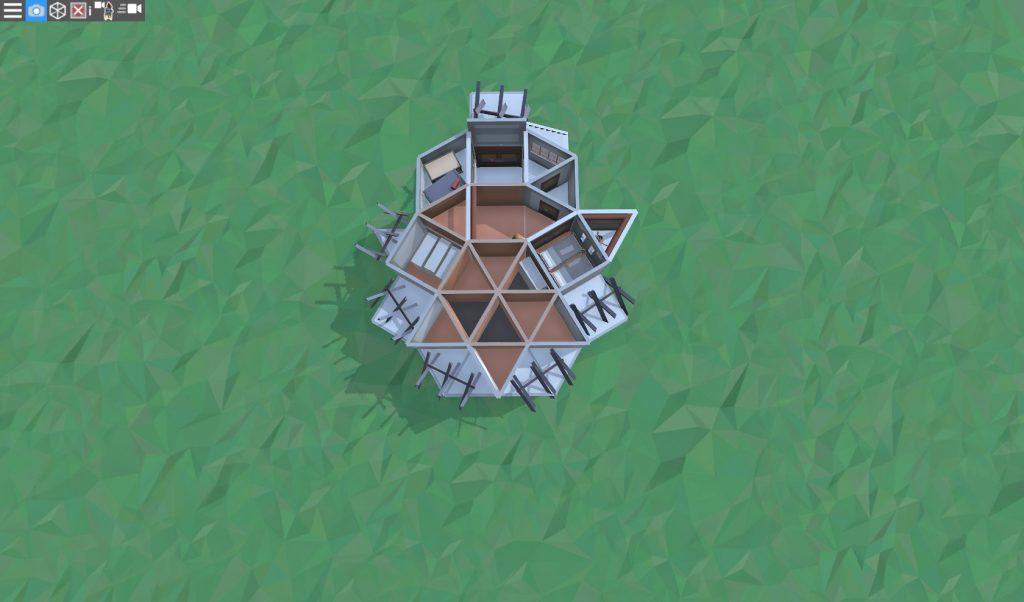 2 этаж продуманного дома для соло игрока в RUST