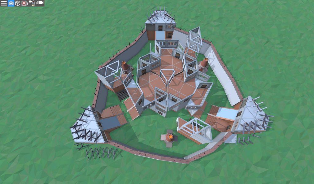 3 этаж большого дома для средней группы игроков в RUST