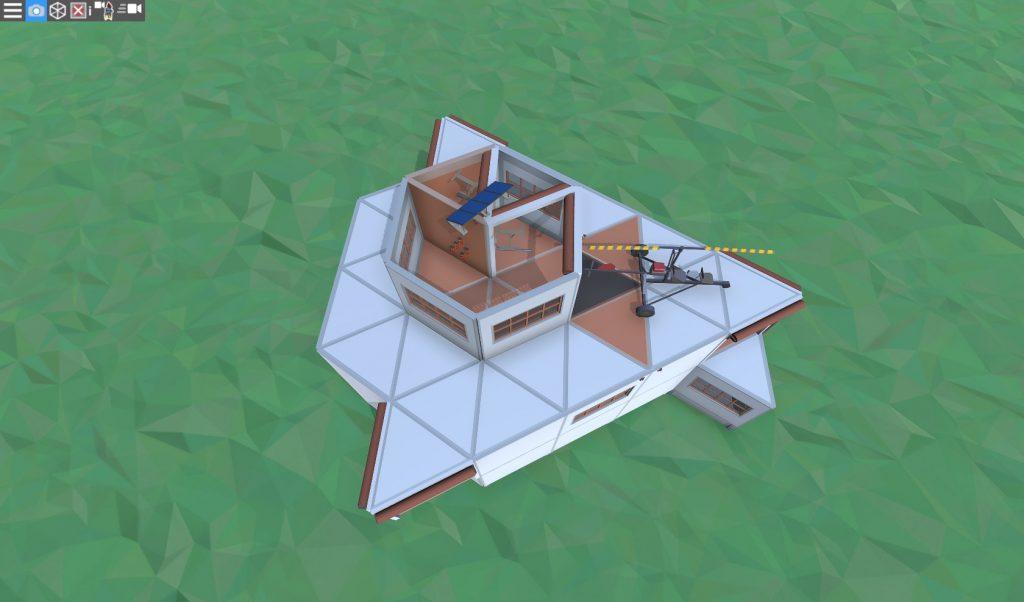 3 этаж дома соло игрока с коптерной площадкой в Rust