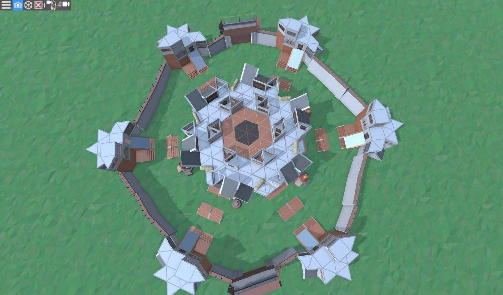 4 этаж клановой базы в RUST