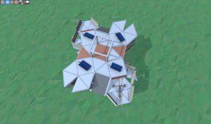 4 этаж средннго дома с коптерами и турелями для 2-3 игроков в RUST