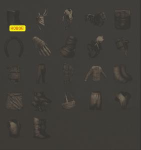 Изученные предметы из категории Одежда в Rust