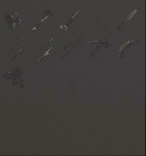 Изученные предметы из категории Оружие в Rust