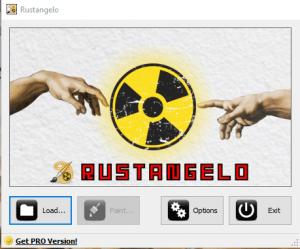 Интерфейс программы Rustangelo