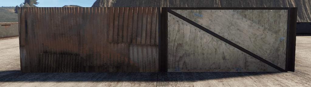 Правильная и неправильная металлическая полустенка в Rust