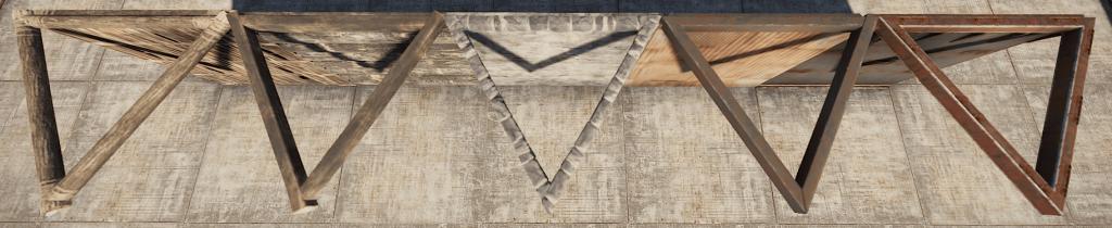Треугольные потолочные каркасы в Rust