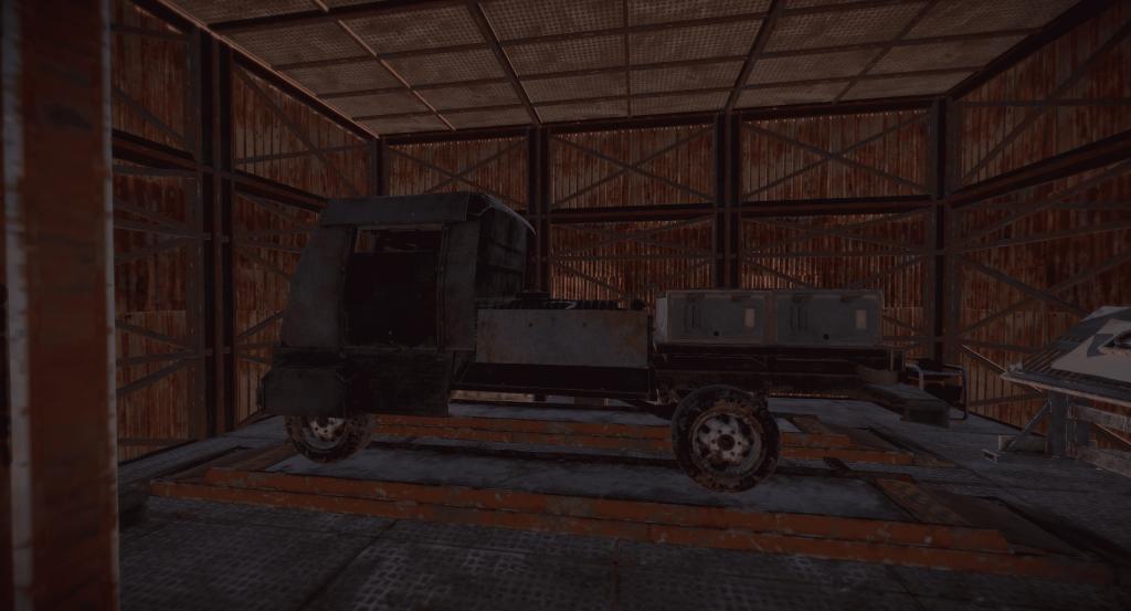 Трёхмодульный грузовик в Rust