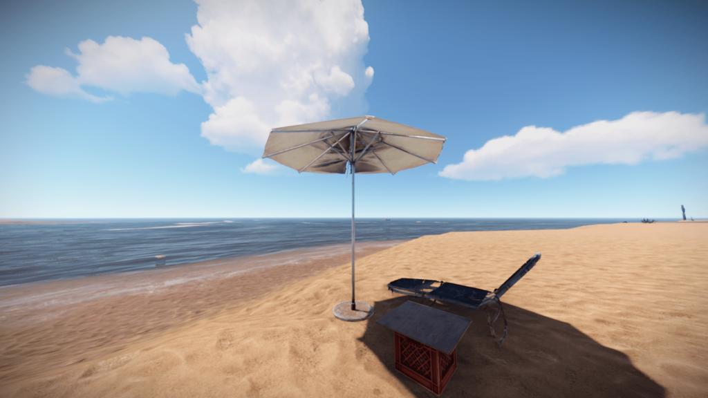 Пляжный зонтик в Rust