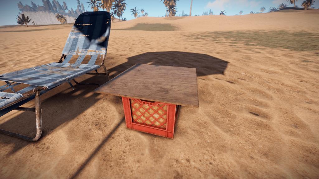 Пляжный столик в Rust