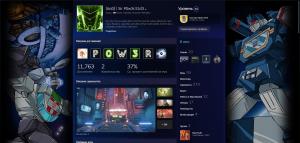 Пример украшения профиля в Steam