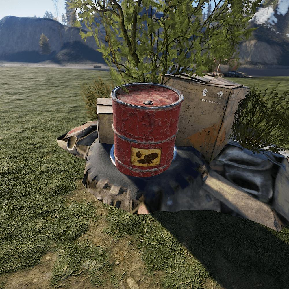 Бочка с топливом в Rust