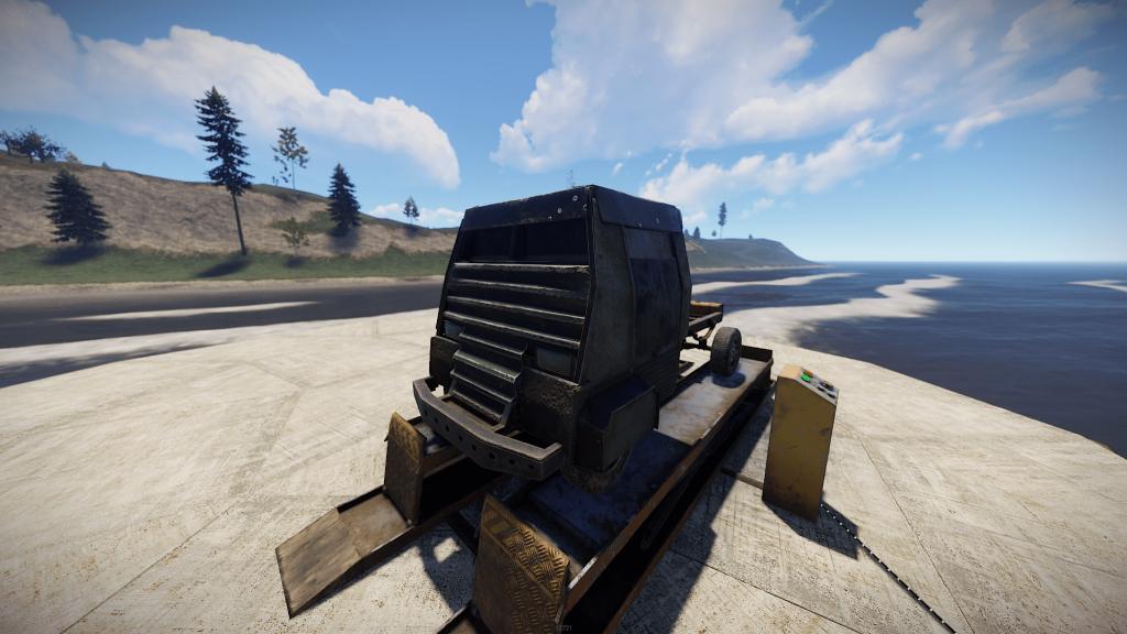 Бронированный пассажирский модуль в Rust
