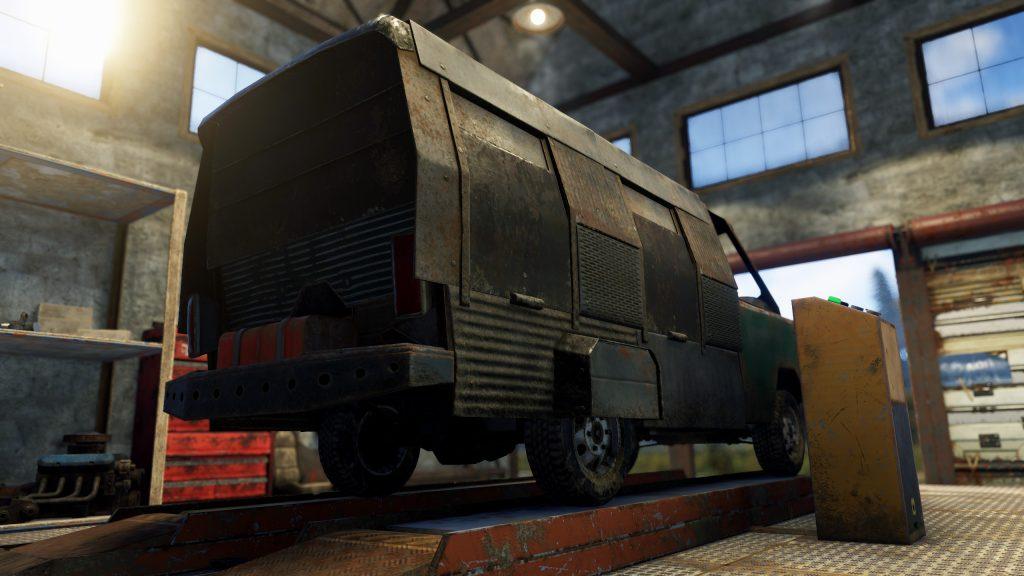 Бронированный пассажирский модуль сзади в Rust