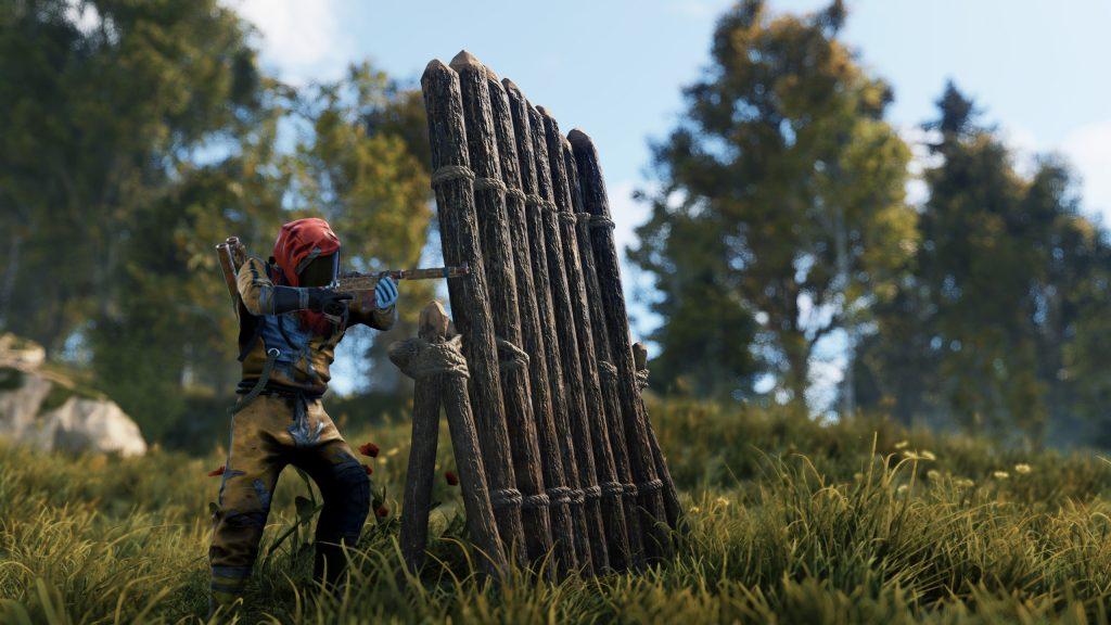 Деревянная баррикада в Rust