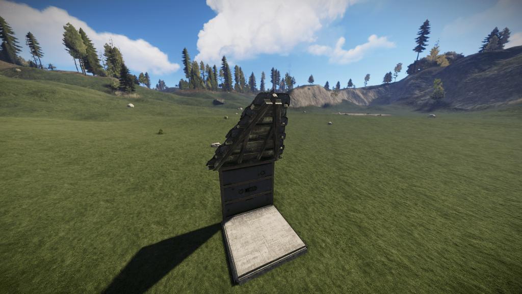 Треугольная крыша из камня в Rust