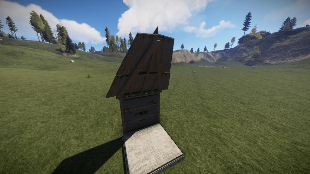 Треугольная крыша из металла высокого качества в Rust