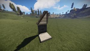 Треугольная крыша из металла в Rust