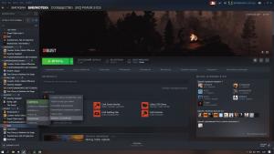 Удаление Rust при помощи Steam