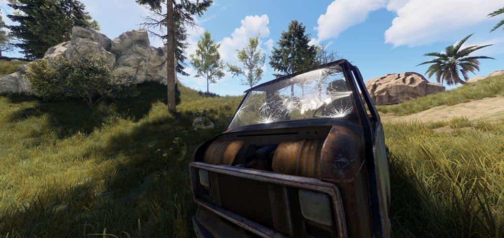 Лобовые стёкла у водительского модуля в Rust