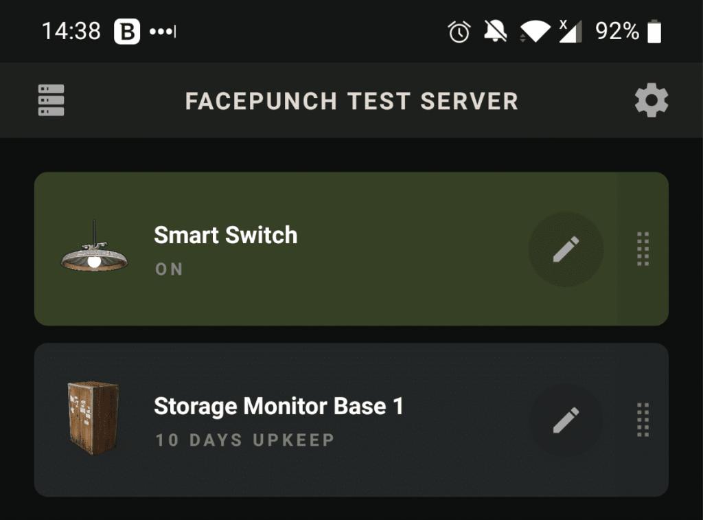 Мониторинг хранилища в Rust+