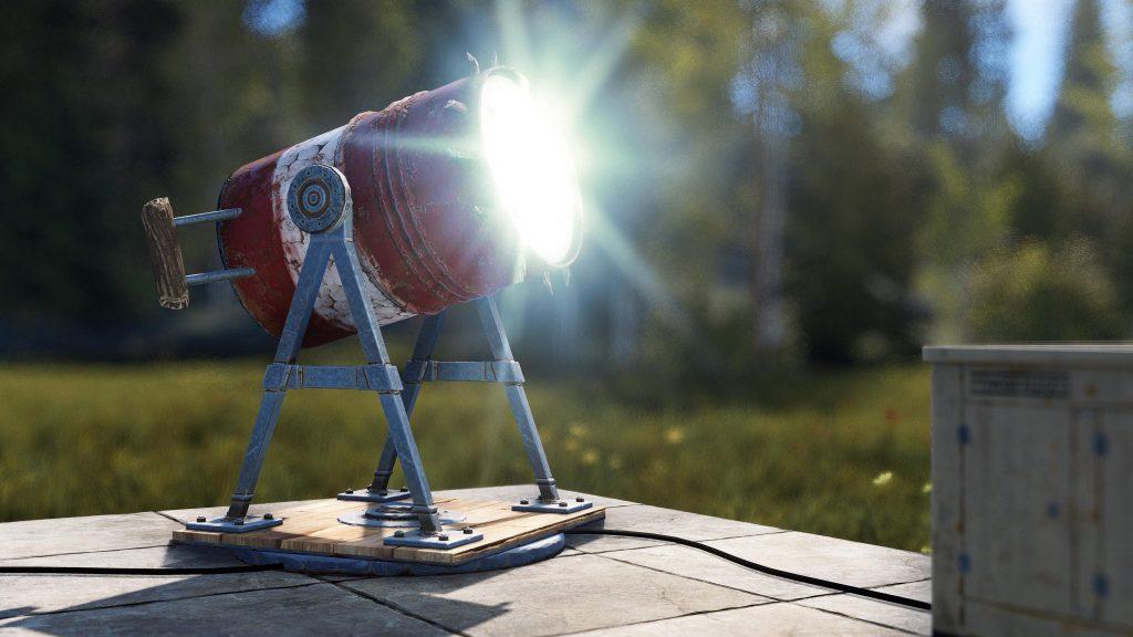 Поисковый фонарь на электричестве в Rust